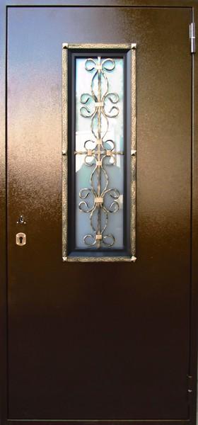 Зевс 1 Ковка с окном 125 стеклопакет двухкамерный белый